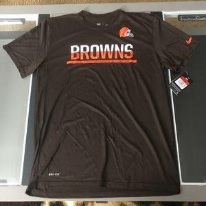Nike CLEVELAND BROWNS Dri-fit Performance shirt L